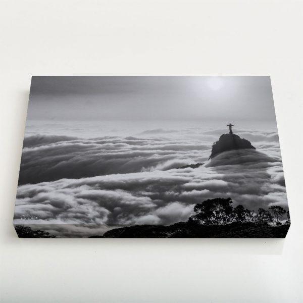 Quadro Canvas - Nascer do sol com nevueiro no Rio de Janeiro 4