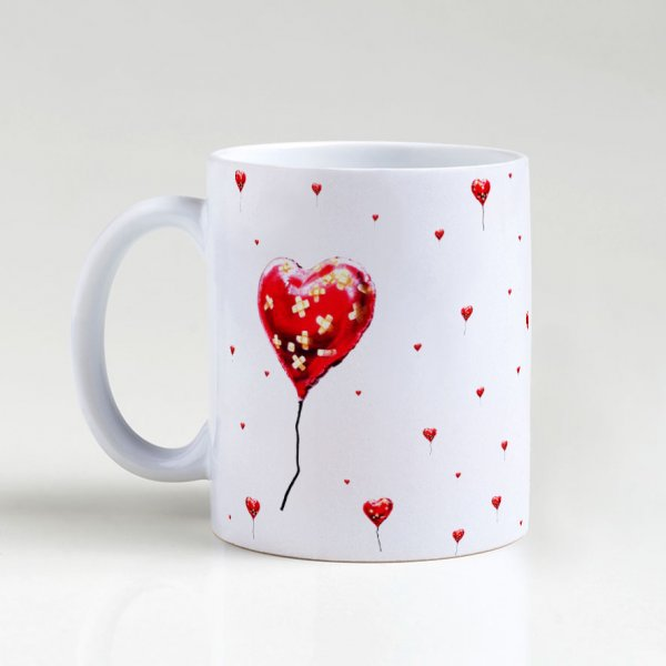 Caneca - Broken Heart Balloon Pattern 5