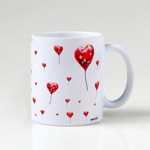 Caneca – Broken Heart Balloon Pattern