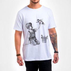 Camisa Masculina Branca – Superhero Nurse