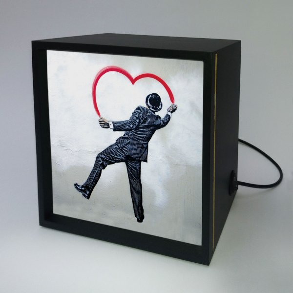 Backlight -  Man Painting Heart 3