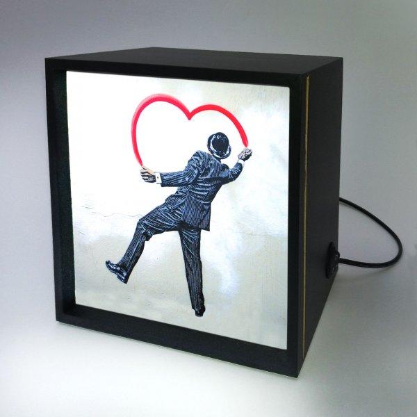 Backlight -  Man Painting Heart 4