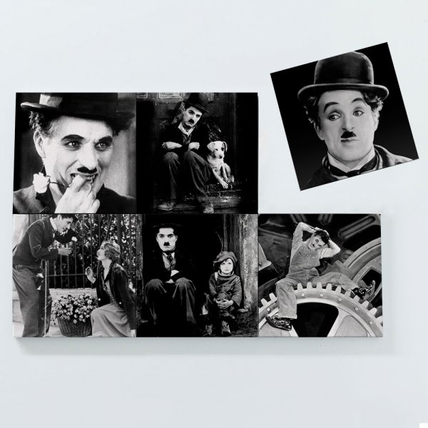 Porta Copos Magnéticos - Charlie Chaplin 3
