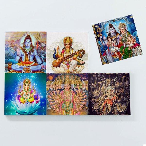 Porta Copos Magnéticos - Deuses Hindus 3