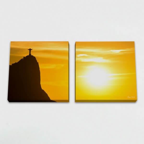 Quadro Quadrado Modular - Nascer do Sol no Rio de Janeiro 3