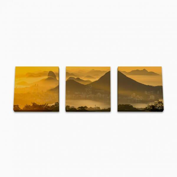 Quadro Canvas Modular - Vista Chinesa Primeiros Raios 3