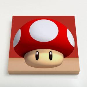 Quadro Quadrado – Cogumelo Vermelho