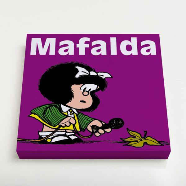 Quadro Quadrado 23x23x3cm - Mafalda 4 3