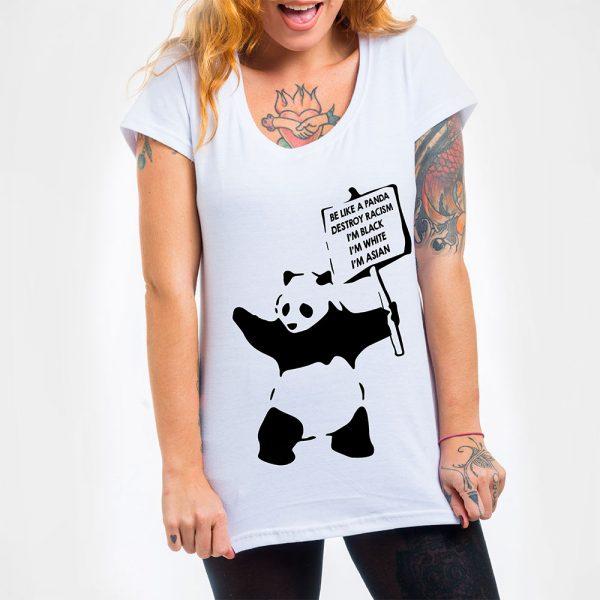 Camisa Feminina - Be Like a Panda 3