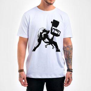 Camisa Masculina Branca – Hard Work