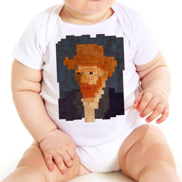 Camisa - Van Gogh 8 bit 6