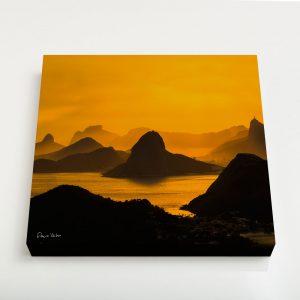 Quadro Canvas – O Poente na Espinha de suas Montanhas, Rio de Janeiro 2